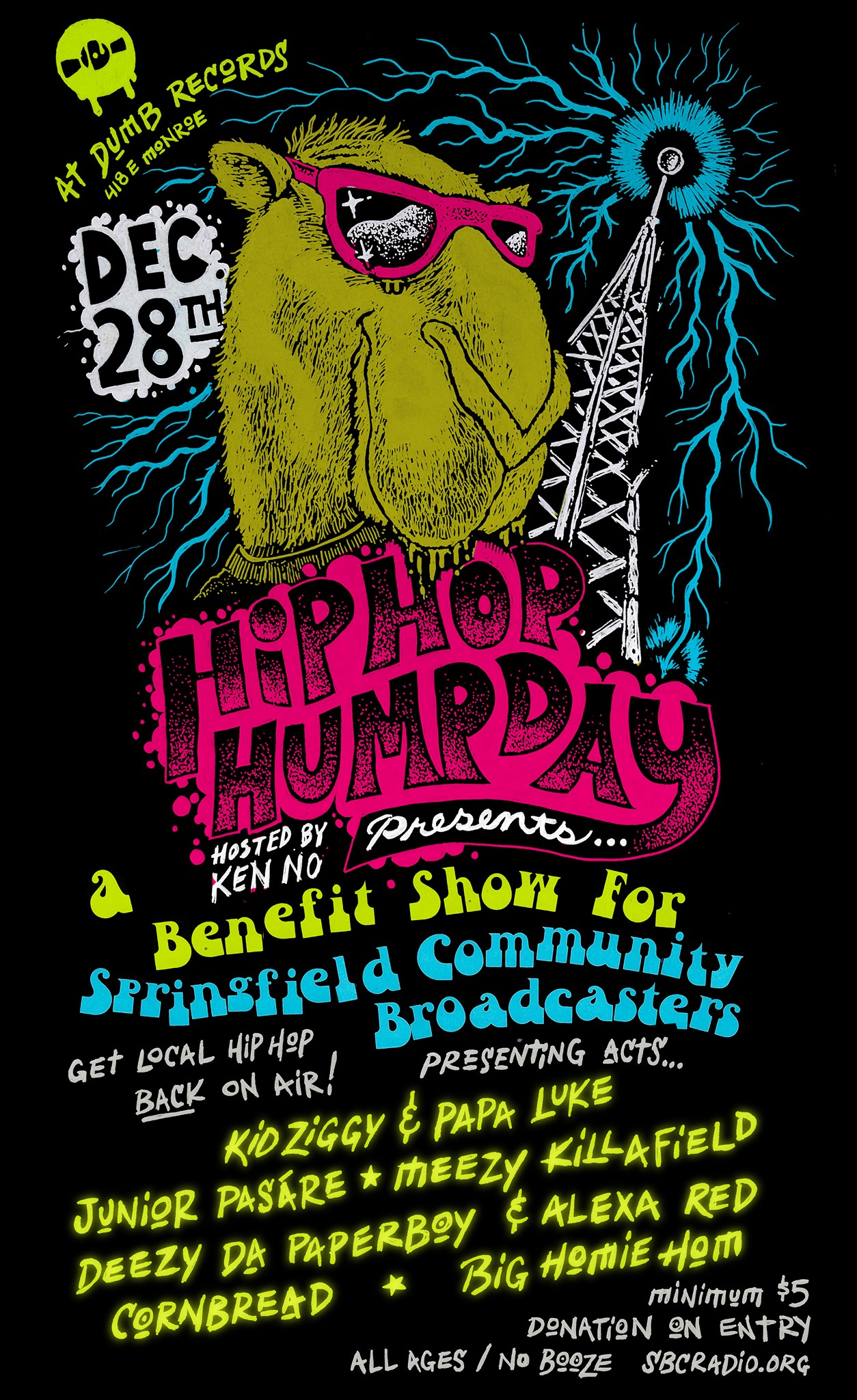 Hip Hop Humpday Benefit Poster