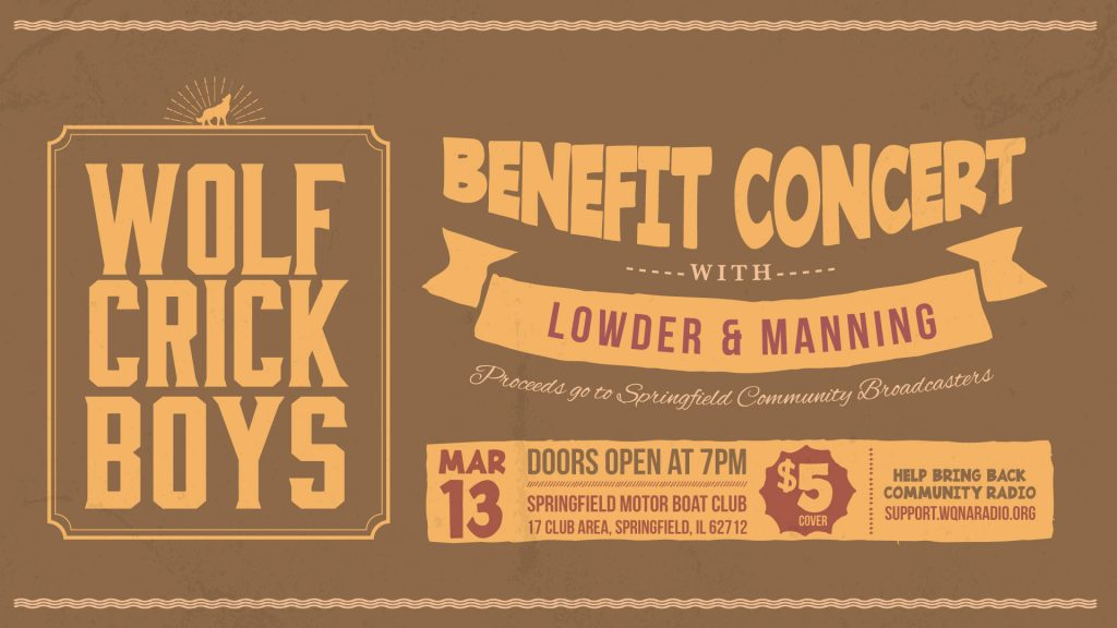 Wolf Crick Boys benefit concert 7pm March 13