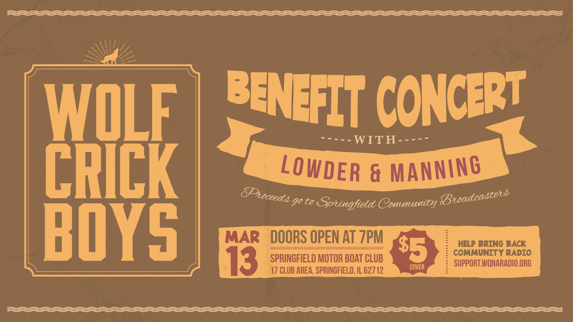 Wolf Crick Boys benefit concert 7pm March 13